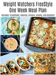 freestyle one week meal plan