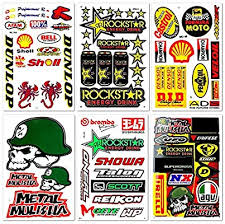 Amazon Com Motorcycles Motocross Extreme Racing Graphics Lot 6 Vinyl Stickers Decals D6066 Best4buy Arts Crafts Sewing