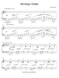 Sondra Clark Montego Guitar Sheet Music Notes, Chords | Download ...