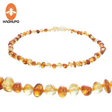 cognac natural amber necklace for baby
