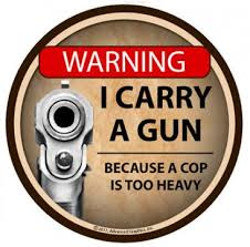Warning I Carry A Gun Tumbler Decal Tumbler Decals Advanced Graphics Inc