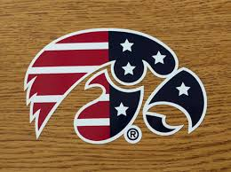 Iowa Patriotic Tigerhawk Vinyl Decal