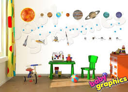 Solar System Wall Decals Vinyl Stickers Removable Repositionable By Babygraphics Solar System Wall Decal Vinyl Wall Decals Wall Decals