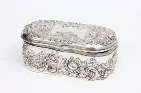 Gorham sterling silver ornate hinged box