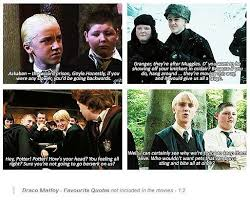 harry potter world en draco malfoy quotes from the book