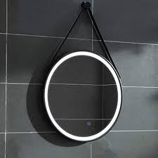 gaolp round bathroom mirror led light