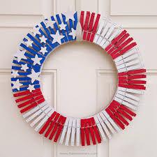 patriotic decor clothespins wreath