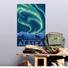 Denali National Park Alaska Wall Decal At Retro Planet