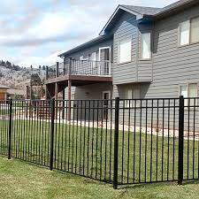 Durables 5 High Parma Picket Fence Black Durables Fence Styles Quick Ship Aluminum Fence
