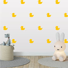 Rubber Duck Wall Pattern Decal Bathtub Duck Kid Room Nursery Etsy In 2020 Bathroom Wallpaper Vinyl Wall Patterns Pattern Decal