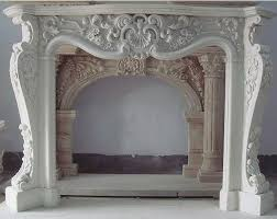 ornate mantle with images fireplace