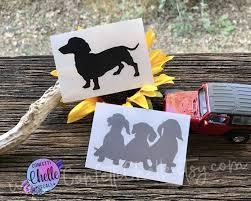 Dachshund Vinyl Decal Sticker Dog Decal Sticker Yeti Etsy Dog Stickers Vinyl Decals Dog Decals