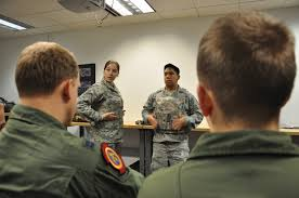 Staff Sgt. Iva Marshall and Tech. Sgt. Arvin Baldorado, both 60th  Operations Support Squadron Aircrew Flight