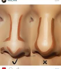 makeup how to do nose contour