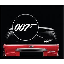 007 James Bond Window Decal Sticker Stickersquad