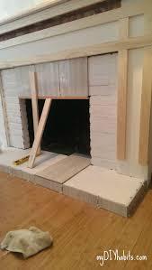 diy brick fireplace refacing reface