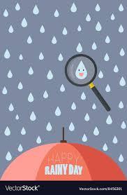 rainy day royalty free vector image