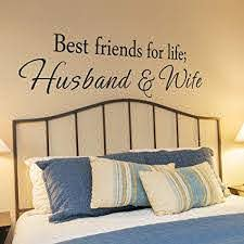 Amazon Com Best Friends For Life Husband And Wife Vinyl Bedroom Wall Decal Bedroom Decor Bedroom Wall Decor Master Bedroom Decor Bedroom Decal 58x14 White Home Kitchen