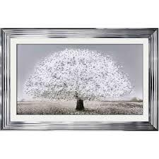 framed wall art with chrome frame