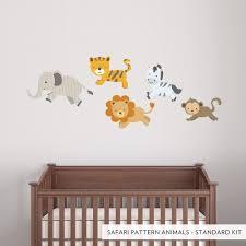 Safari Pattern Animals Printed Wall Decal