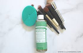 how to wash makeup brushes clean mama