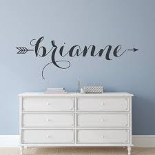 Name Decal Name Wall Decal Custom Wall Decals Name Etsy