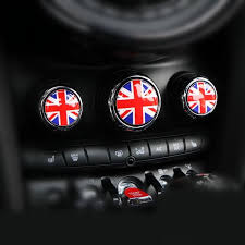 Mini Cooper Ac Control Buttons 3d Crystal Sticker Decal Jack Union Br Carsoda