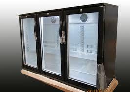 auto defrost commercial back bar fridge