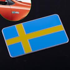 3d Sweden Swedish Flag Car Metal Sticker Emblem Badge Decal Fender Trunk Decor Ebay