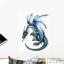 Amazon Com 24 Castle Scape Window Instant View Ice Dragon 1 Wall Sticker Decal Graphic Mural Home Kids Game Room Office Art Decor Home Kitchen