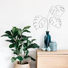 wallpops black new leaf wall decal