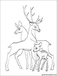 Kleurplaat Van Bambi Met Ouders Gratis Kleurplaten