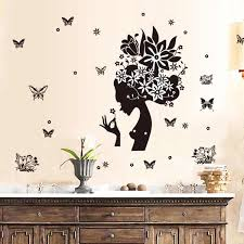 Flower Girl Kids Baby Rooms Home Decor Stikers Fairy Wall Stickers Home Decoration Accessories Tile Stickers Poster Mural Poster Mural Fairy Wall Stickerswall Sticker Aliexpress