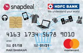 hdfc bank visa credit cards in indri