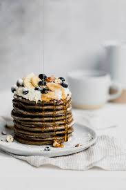 gluten free buckwheat pancakes with
