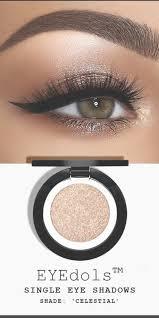 copper metallic smokey eye makeup