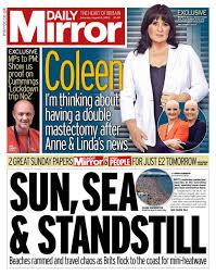 Newspaper headlines: Brits pack beaches as travellers 'kept in dark' - BBC  News