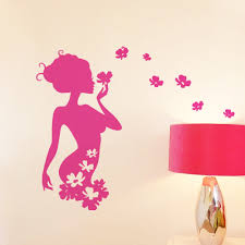 Flower Fairy Wall Sticker For Girls Rooms 8395 Decorative Removable Wall Decal Adesivo De Parede Bedroom Wedding Home Decor Fairy Wall Stickers Wall Stickerstickers For Aliexpress