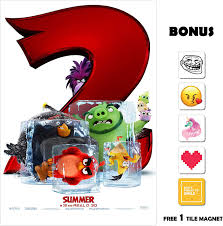 Amazon.com: Movie Poster Angry Birds 2 13 in x 19 in Poster Flyer ...