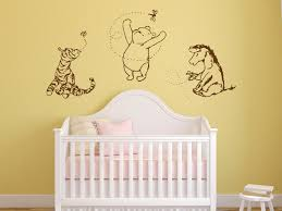 Classic Winnie The Pooh Crib Sheets Large Wall Stickers Nursery Independence