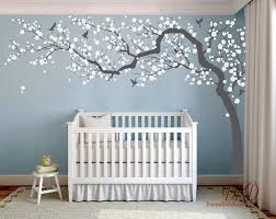 Wall Decal Charming Pink Blossom Tree Cherry Blossom Tree Decal For Nursery Decoration Large Tree Wall Decal Mural Dk251 In 2020 Pink Blossom Tree Nursery Wall Decals Nursery Mural