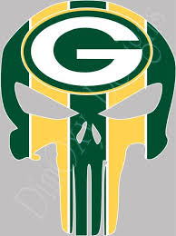 Green Bay Packers Punisher Skull Sticker Decal For Car Truck Boat 3 24 Gbpp1 Ebay