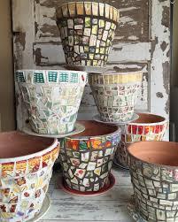 wow diy mosaic flower pots diy