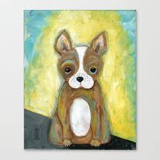 Puppy Painting Children S Room Decor Kid S Room Wall Art Dog Painting Animal Art Canvas Print By Jilllambert Society6