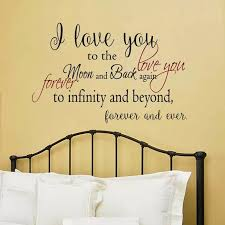 Battoo I Love You To The Moon And Back Romantic Love Quotes Wall Decals Forver Love Wall Stickers Bedroom Wedding Decor Mural Quote Wall Decal Wall Stickerlove Wall Sticker Aliexpress