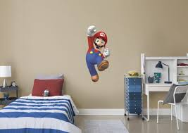 Boys Video Game Bedroom Super Mario Brothers Super Mario Wall Decal Visit Us And Follow Us On Pinterest Video Game Bedroom Sports Room Boys Video Game Rooms