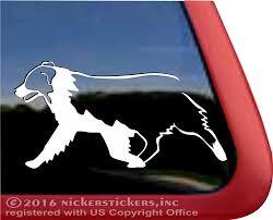 Custom Australian Shepherd Dog Stickers Decals Nickerstickers