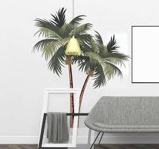 Drawing Palm Trees Tree Wall Sticker Tenstickers