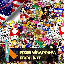 Free Tool Kit Mao Jdm Anime Graffiti Cartoon Car Auto Laptop Vinyl Wrap Sticker Decal Film Sheet 12 X60 Best Buy Laptops