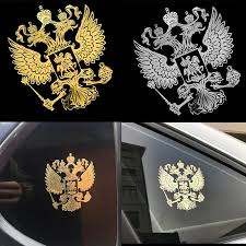 New Coat Of Arms Of Russia Metal Car Window Sticker Decal Russian Federation Eagle Emblem Car Styling Laptop Phone Decoration Car Stickers Aliexpress